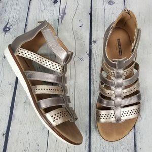 CLARKS | Kele Lotus gladiator leather sandals